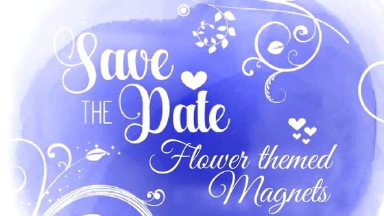 Flower Themed Wedding Save The Date Magnets-Add Specks Of Color And Beauty To Your Wedding theme (1)