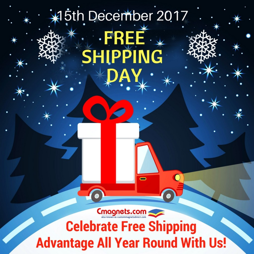 15th December Is 2017 Free Shipping Day –Celebrate Free Shipping Advantage All Year Round With Us!