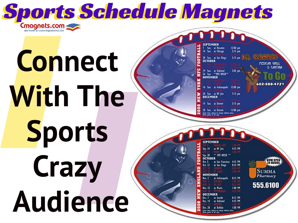 Use Sports Schedule Magnets To Connect With The Sports Crazy Audience