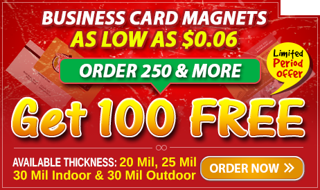Discount offer Alert On Custom Business Card Magnets