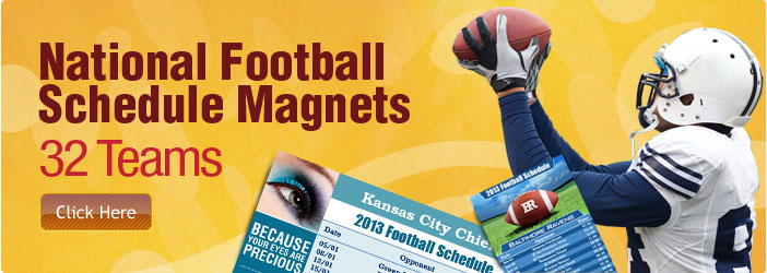 32 Teams National Football Schedule Magnets
